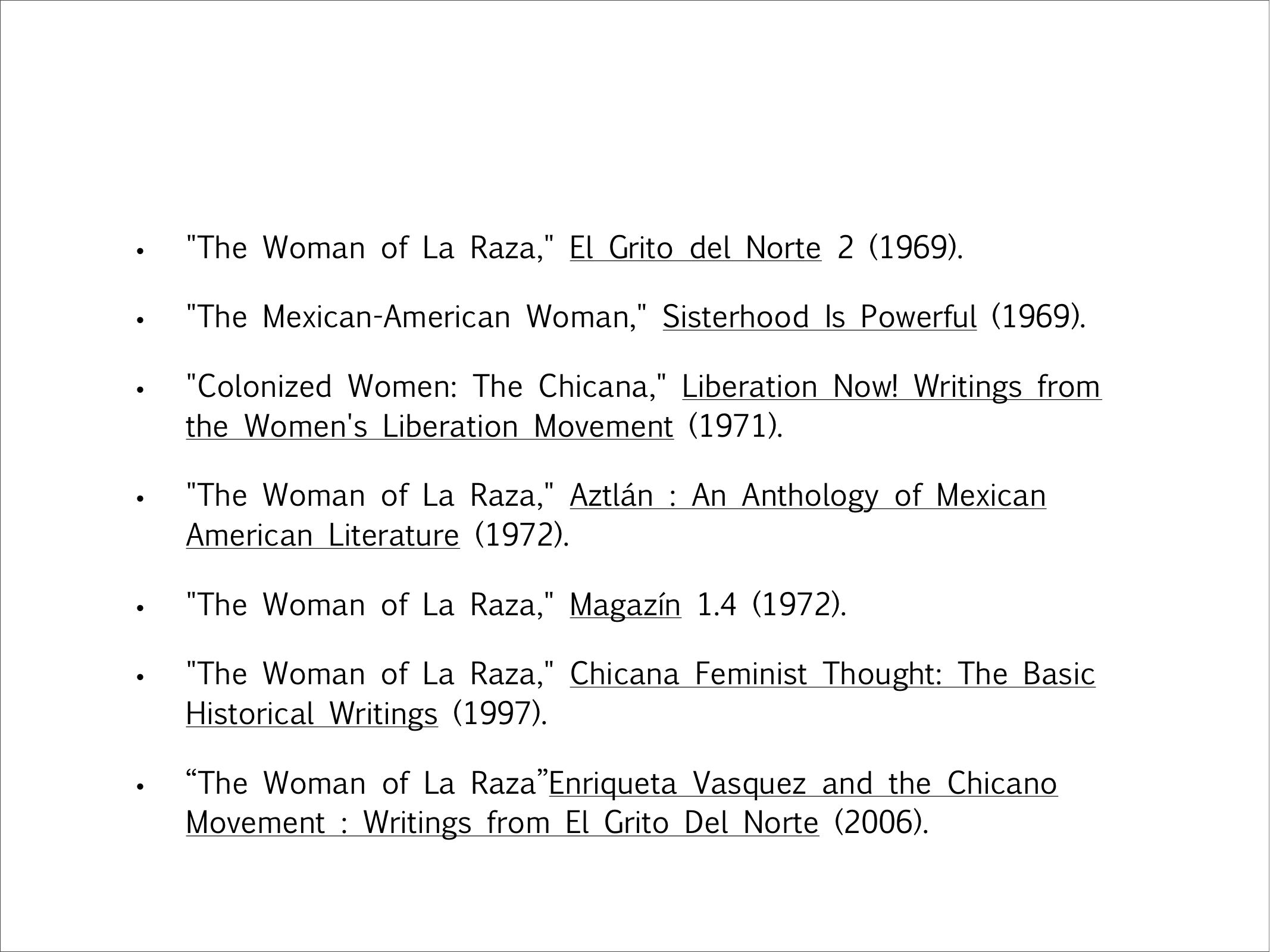 malcs institute paper the case of the second chicana annemarie on those terms enriqueta vatildeiexclsquez s variously titled article can be counted as one of the most influential essays of the chicano movement
