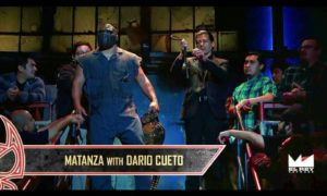 This is picture of me in the background of one of my favorite wrestling shows, Lucha Underground.